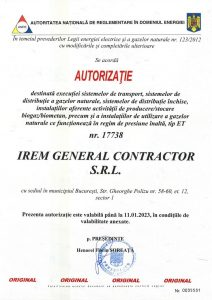 Authorisation ANRE IREM GENERAL CONTRACTOR nr. 17738 - gaze (ET) - exp. 11.01.2023jpg_Page1