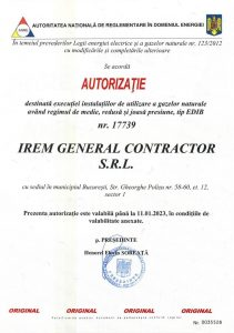 Authorisation ANRE IREM GENERAL CONTRACTOR nr. 17739 - gaze (EDIB) - exp. 11.01.2023jpg_Page1
