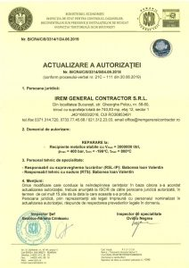 Autorizatie ISCIR - IREM GENERAL CONTRACTOR - Reparare la Recipiente metalice stabile_3314jpg_Page1