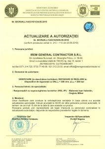 Autorizatie ISCIR - IREM GENERAL CONTRACTOR - Verificare (la deschidere-inchidere), reparare si reglare la dispozitive de siguranta_3316jpg_Page1